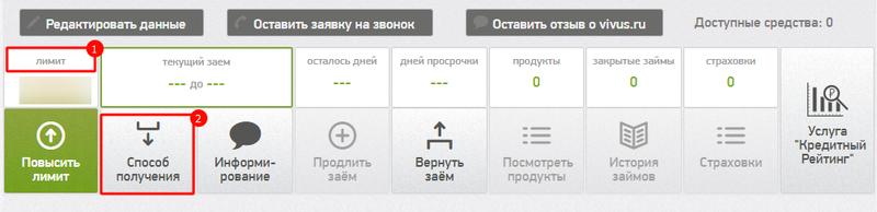 интерфейс личного кабинета вивус